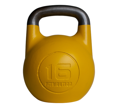Fitribution 16kg holle stalen competitie kettlebell  (hollow competition kettlebell)