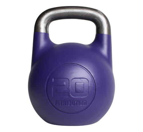 Fitribution 20kg holle stalen competitie kettlebell  (hollow competition kettlebell)