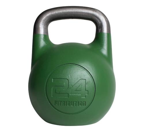 Fitribution 24kg holle stalen competitie kettlebell  (hollow competition kettlebell)