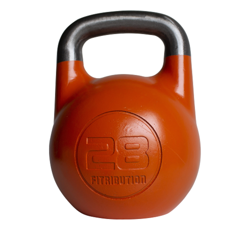 Fitribution 28kg holle stalen competitie kettlebell  (hollow competition kettlebell)
