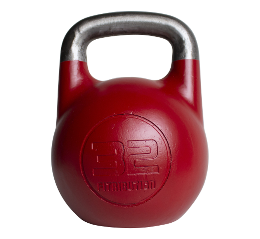 32kg holle stalen competitie kettlebell  (hollow competition kettlebell)