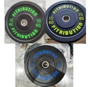 Fitribution Serie 10/15kg/20 Disco De Parachoques De Caucho 50mm