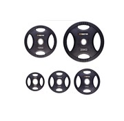 Fitribution Set 1,25/2,5/5/10/20kg schijf HQ rubber met handgrepen 50mm
