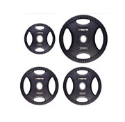 Fitribution Set 5/10/10/20kg weight plate HQ rubber with grips 50mm