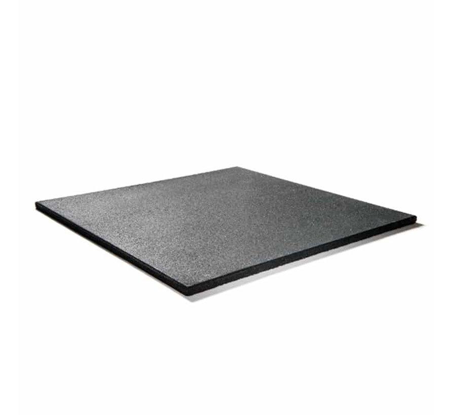 Rubber fitnesstegel PRO 100x100x2cm zwart