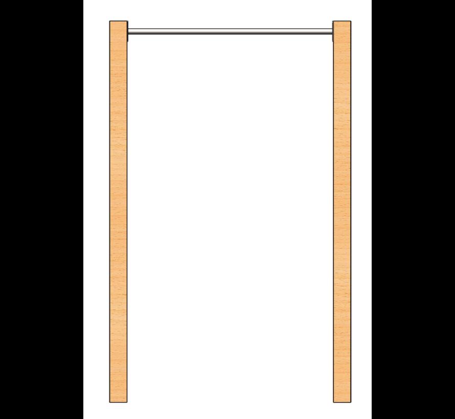 Barra de dominadas acero inoxidable (Postes de madera no incluidos)