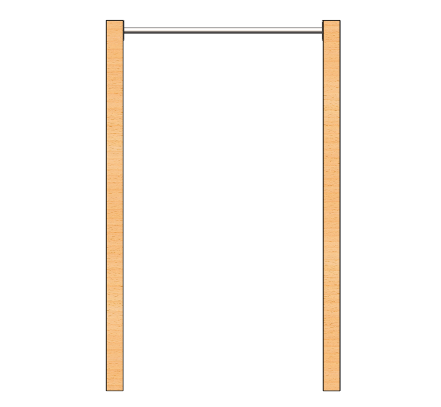 Stainless steel Pull Up bar (wooden uprights not included)