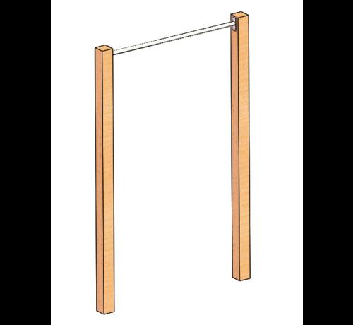 Fitribution Barra de dominadas acero inoxidable (Postes de madera no incluidos)