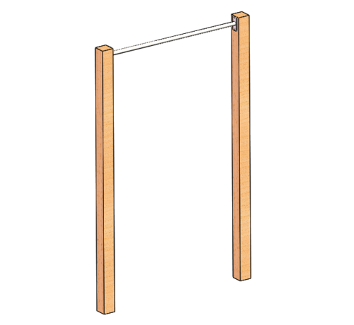 Fitribution Stainless steel Pull Up bar (wooden uprights not included)