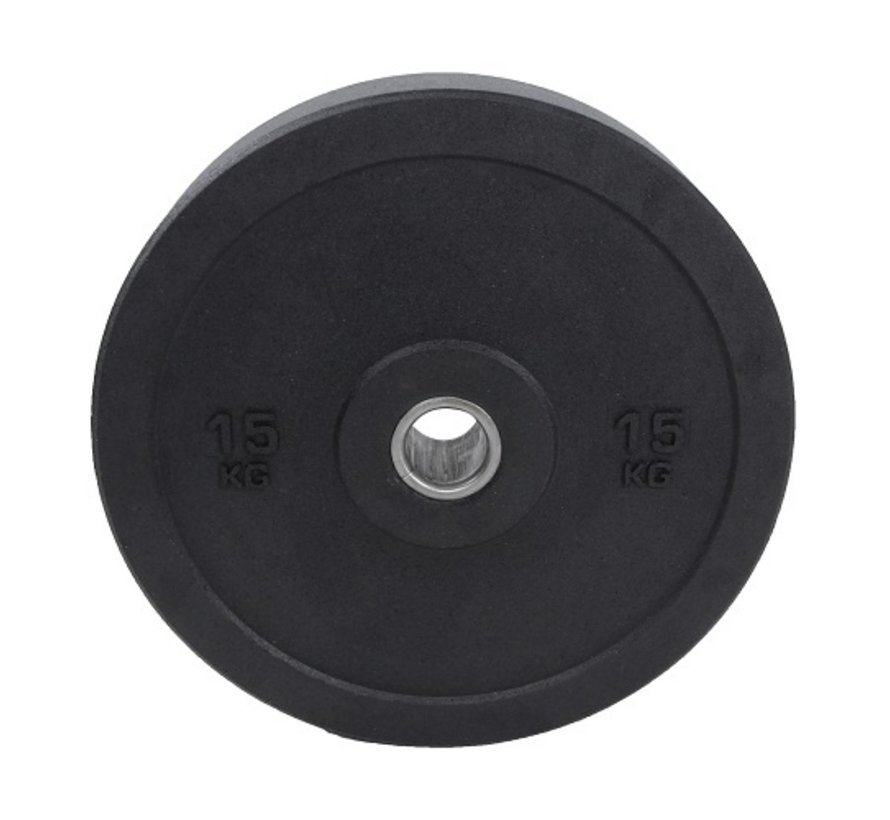 Set 5/10/15/20kg schijf bumper plate crumb rubber 50mm / Hi-Temp Bumper Plates