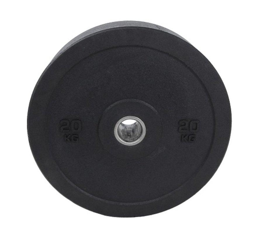 Set 5/10/20kg schijf bumper plate crumb rubber 50mm / Hi-Temp Bumper Plates