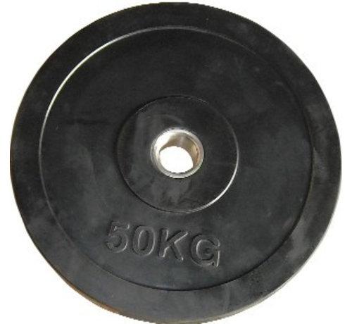 Fitribution 50kg disque en caoutchouc HQ 50mm
