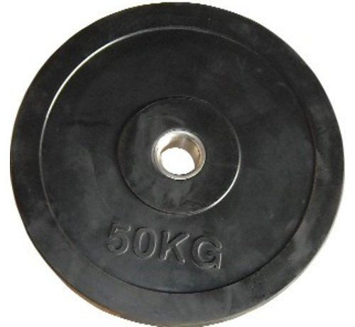 Fitribution 50kg schijf HQ rubber 50mm