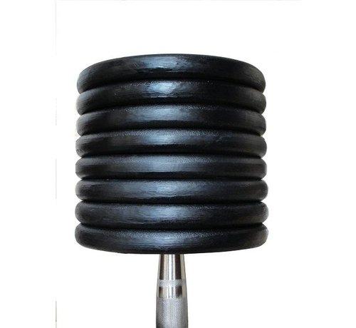 Fitribution Haltères Classiques en fonte caoutchouc 12-20kg 5paires