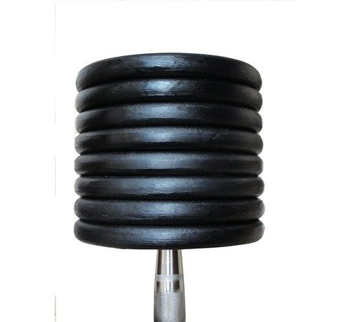 Fitribution Mancuernas clásicas de hierro 4-20kg 9 pares