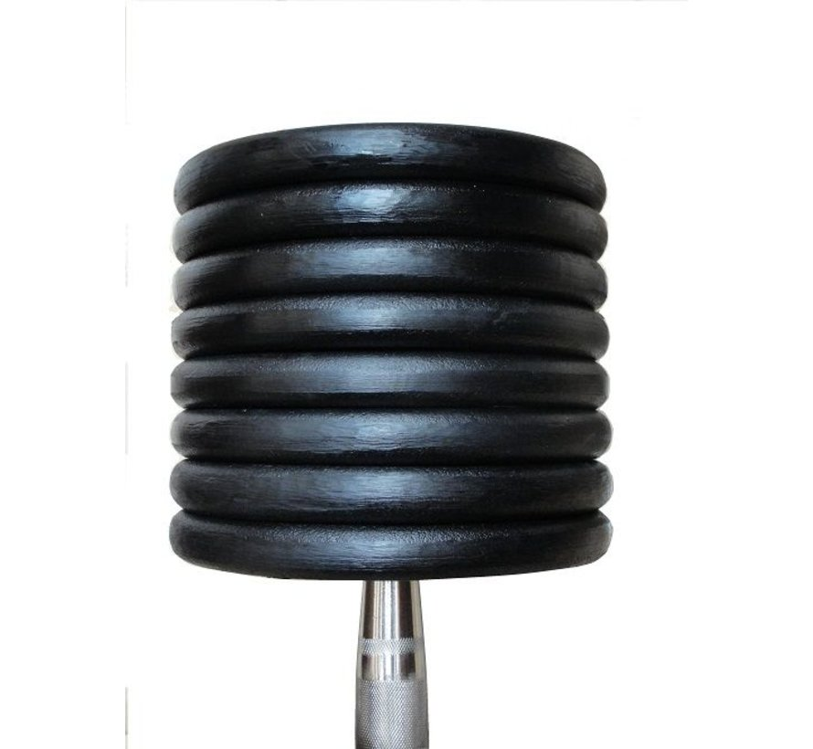 Classic ijzeren dumbbells 32-60kg 15paar