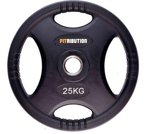 Fitribution disco de peso 25kg HQ caucho con agarraderas 50mm