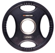 Fitribution 1,25kg weight plate HQ rubber with grips 50mm