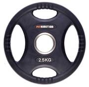 Fitribution 2,5kg schijf HQ rubber met handgrepen 50mm