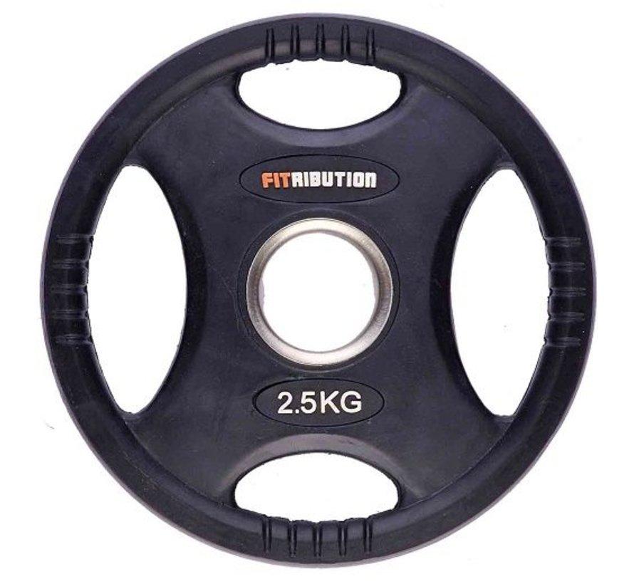 2,5kg schijf HQ rubber met handgrepen 50mm