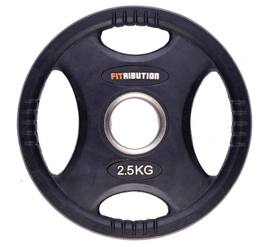 2,5kg weight plate HQ rubber with grips 50mm