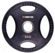 Fitribution 5kg schijf HQ rubber met handgrepen 50mm