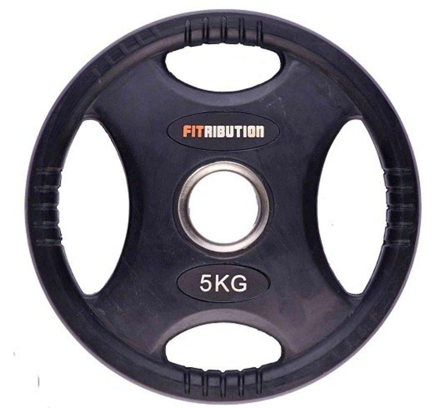 5kg schijf HQ rubber met handgrepen 50mm