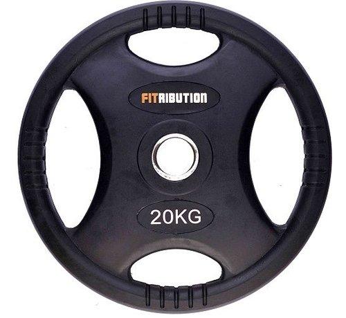 Fitribution 20kg schijf HQ rubber met handgrepen 50mm