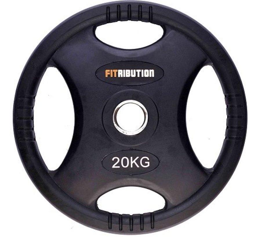 20kg disco de peso HQ caucho con agarraderas 50mm