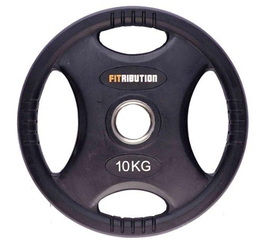 10kg disco de peso HQ caucho con agarraderas 50mm
