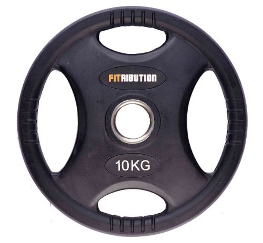 10kg weight plate HQ rubber with grips 50mm