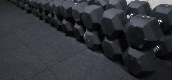 Haltère hexagonal