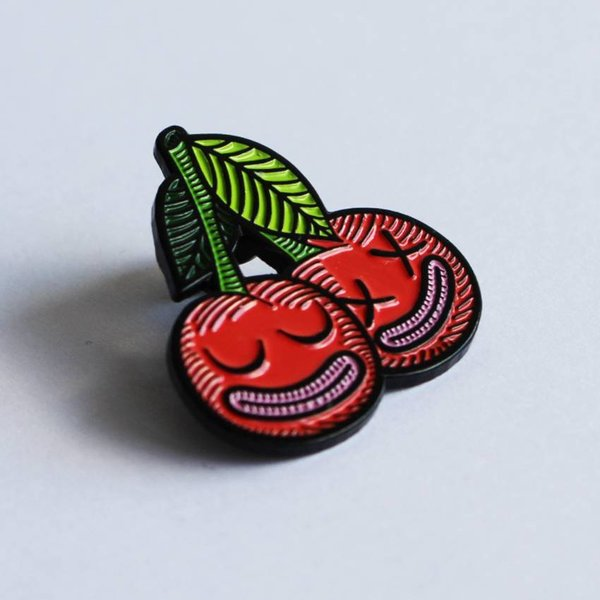 Cherrysh pin (Red) by Creamlab
