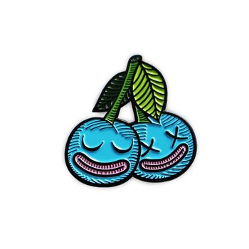 Cherrysh pin (Blue) by Creamlab
