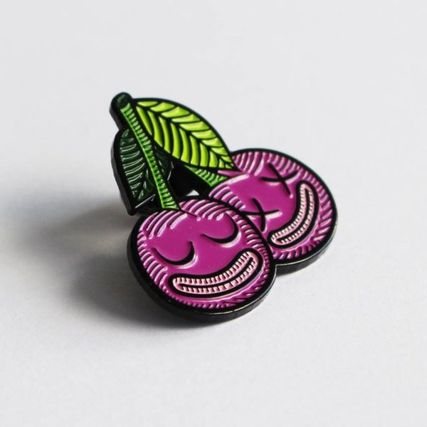 Cherrysh pin (Purple) by Creamlab