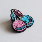 Cherrysh pin (Pink & Blue) by Creamlab
