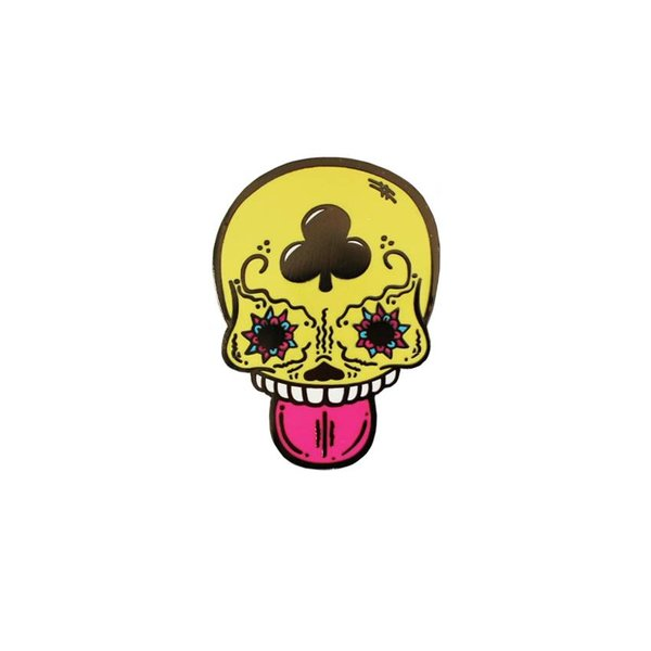 Calavera Duro pin (Yellow) by Creamlab