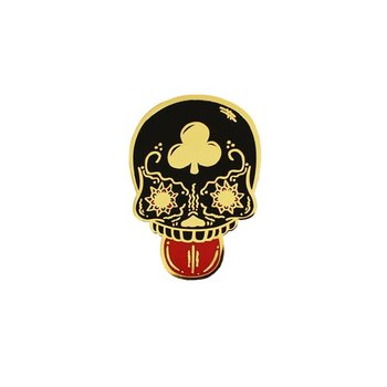Calavera Duro pin (Black & Gold) by Creamlab