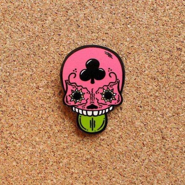 Calavera Duro pin (Pink) by Creamlab