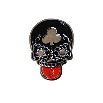 Calavera Suave pin (Black) by Creamlab