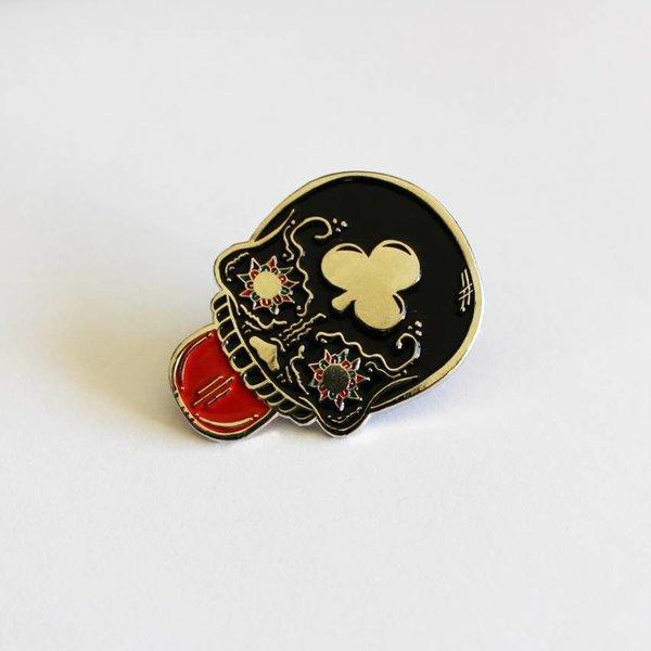 Calavera Suave pin (Black) by Creamlab