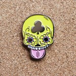 Calavera Suave pin (Yellow) by Creamlab