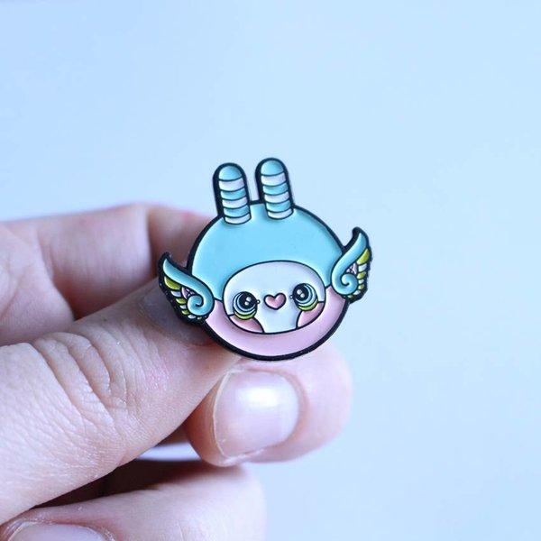 Mini Hoot pin (Pink & Blue) by Tomodachi Island