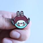 Mini Hoot pin (Red & Mint) by Tomodachi Island