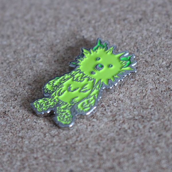 INC. pin (Green & Silver) by Instinctoy