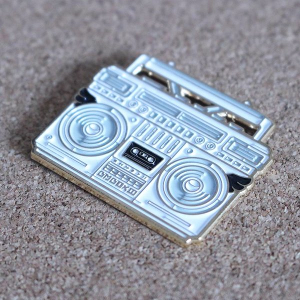 BMBOX pin (White) by Elena Kazi