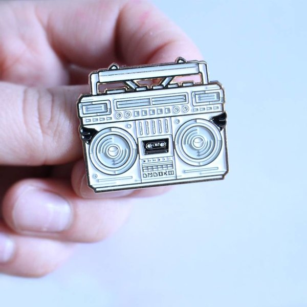 BMBOX pin (White) by Elena Kazi