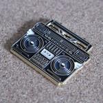 BMBOX pin (Black) by Elena Kazi