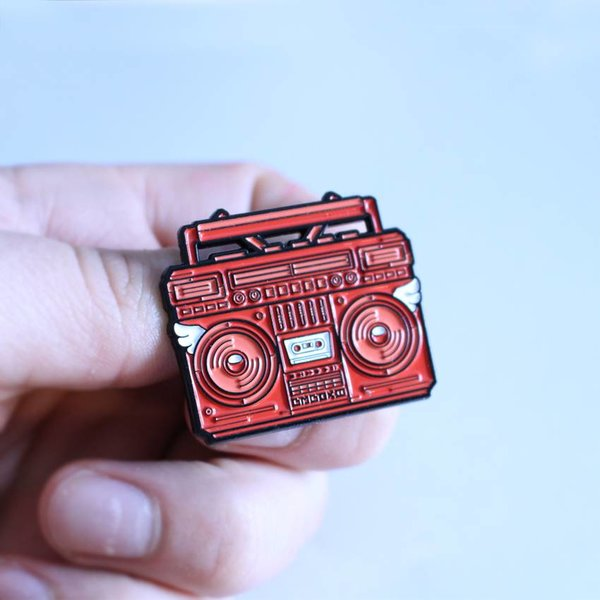 BMBOX pin (Red) by Elena Kazi