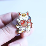 Negora & Koi pin (White & Gold) by Konatsu